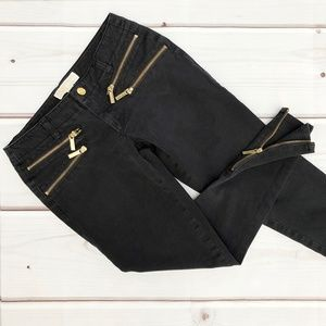 MICHAEL Michael Kors | Zipper Skinny Jeans